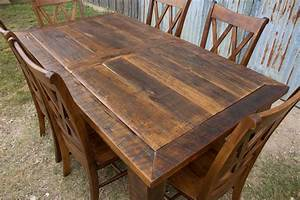 barnwood beam leg barn door table With barn door tables for sale