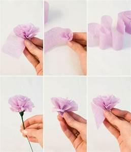 Faire Une Guirlande En Papier : comment cr er une fleur en papier cr pon astuces et photos ~ Melissatoandfro.com Idées de Décoration
