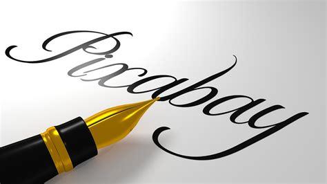 bureau commercial illustration gratuite calligraphie écriture