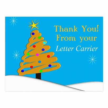 Mailman Thank Postcards Cards Iv Carrier Christmas