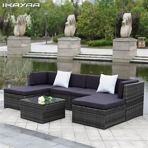 aliexpresscom buy ikayaa us uk stock patio garden With katzennetz balkon mit rattan corner sofa garden furniture