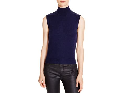 sleeveless turtleneck sweater timo weiland sleeveless turtleneck sweater in blue lyst
