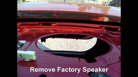 replace rear deck speakers   toyota corolla