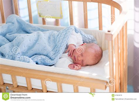 Newborn Baby Boy In Hospital Cot Stock Photo Image 57824570