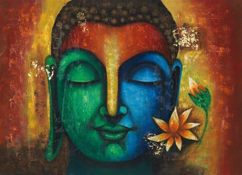 paintings for home buy calm peaceful buddha handmade painting by community