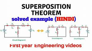 Superposition Theorem With Solved Example In Hindi
