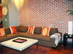 25, Brick, Wall, Designs, Decor, Ideas, For, Living, Room