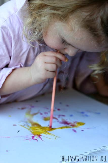 straw blown paintings the imagination tree 642   Straw blown art for kids