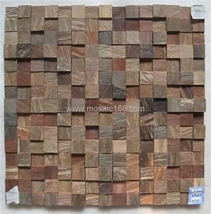 irregular wood mosaic for interior wall - GMR-04 - Gimare