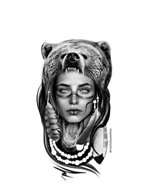 Faces Drawing Smiling | Tattoos, Bear tattoos, Headdress tattoo