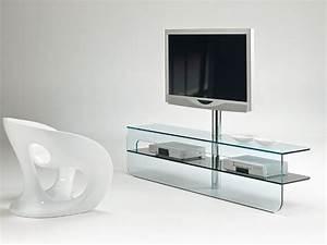 Tv Lowboard Glas : meuble tv bas verre ~ Whattoseeinmadrid.com Haus und Dekorationen