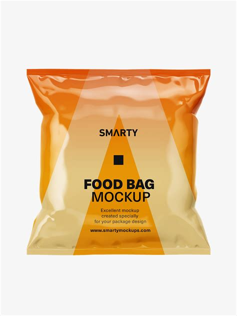 Moreover, if you want us to edit this mockup for you, then you can freely contact us at fiverr. Glossy food bag mockup - Smarty Mockups