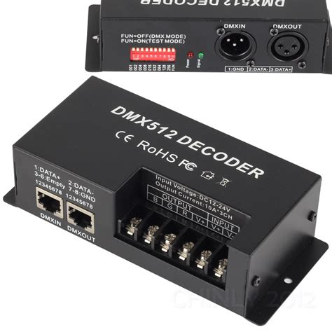 Channel Rgb Dmx Led Decoder Controller