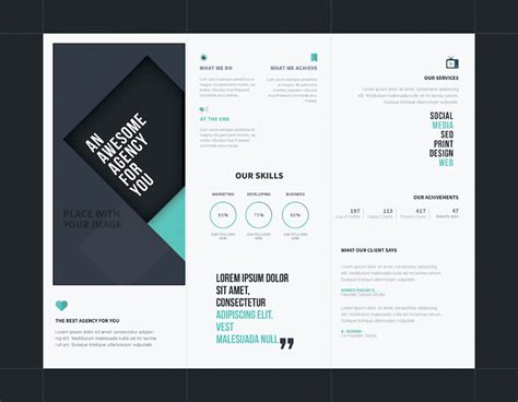 Brochure Photoshop Template by 25 Tri Fold Brochure Templates Psd Ai Indd Free