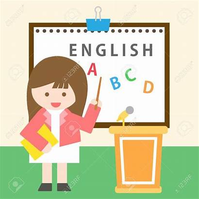 English Teacher Class Clipart Painting 1300 Standing