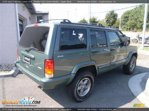 jeep cherokee green 2000 2000 jeep cherokee classic 4x4 medium fern green metallic