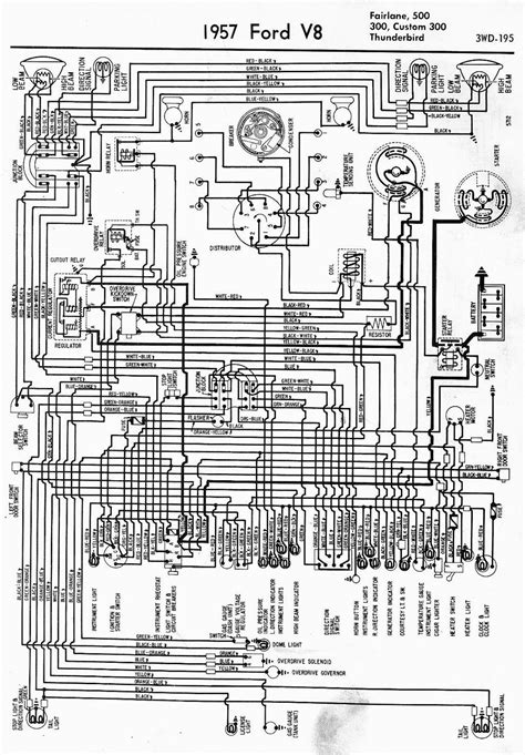 1955 Thunderbird Overdrive Wiring Diagram by Wiring Diagram For 1957 Ford V8 Fairlane 500 300 Custom