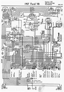 Wiring Diagram For 1957 Ford V8 Fairlane  500  300  Custom
