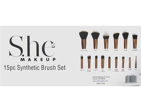 street fair cosmetics makeup pc synthetic brush set