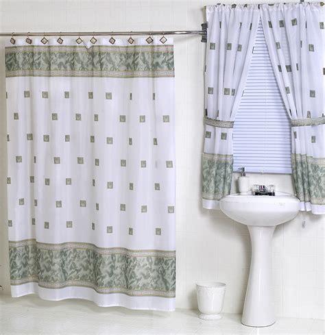 windsor jade green fabric shower curtain matching window
