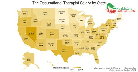 Therapist Salary By State by The Occupational Therapist Salary In 2017 Healthcare