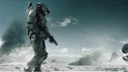 Halo Chief Master Soldados Imagenes Pantalla Fuego