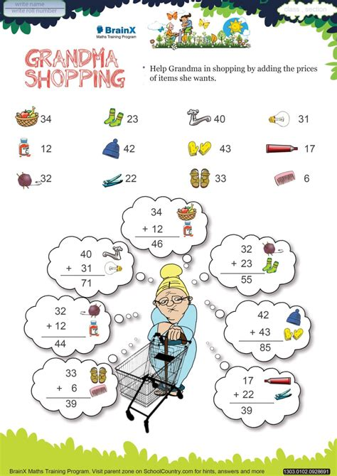 printable math worksheets  grade  image worksheet