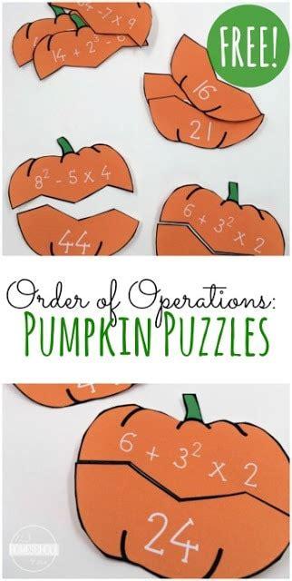 pumpkin order  operations puzzles