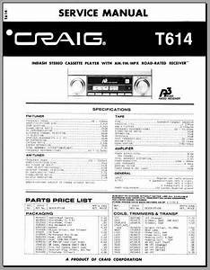 Craig T614 Service Manual  Analog Alley Manuals