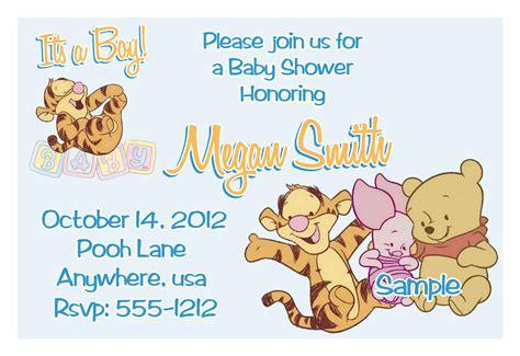 winnie  pooh baby shower invitations templates