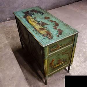 Meuble Fait La Main Avec Peinture Chinoiserie 18me