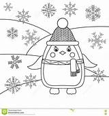 Coloring Template Stake Winter Theme Pages Animals Drawing Hat Penguin Sketch Activity Templates Educational Scarf sketch template