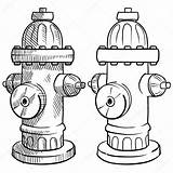Hydrant Fire Sketch Drawing Vector Illustration Hydrants Plan Lhfgraphics Symbols Template Coloring Getdrawings Depositphotos sketch template