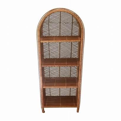 Wicker Bookcase Chairish