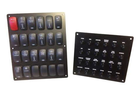 separate rocker switch and breaker panel new wire marine
