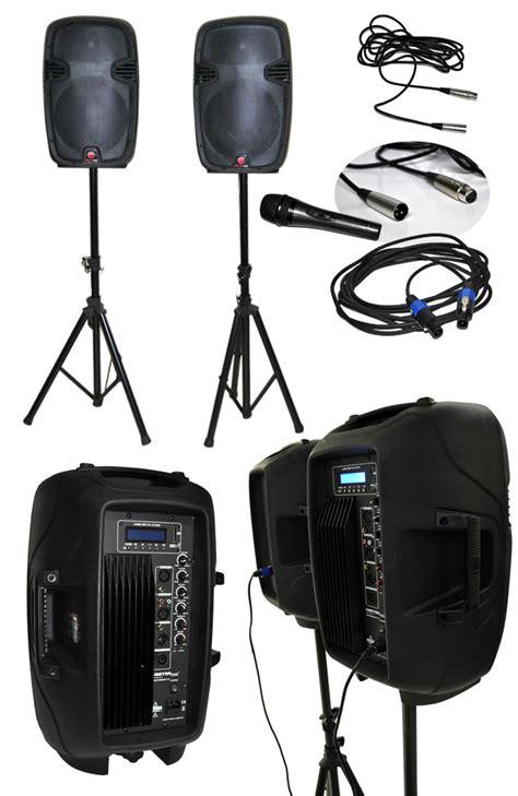 kit de altavoces de 12 quot con lificador y reproductor de audio master electronicos