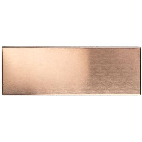 copper backsplash tiles shop 12 pc set metal subway tiles in matte copper