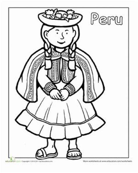 multicultural coloring peru coloring pages dance coloring pages hispanic heritage month