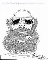 Coloring Beards Thank Birds Beard Purchasing sketch template