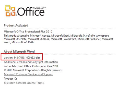 Office Version Numbers resolving microsoft office 2010 issues with office 365