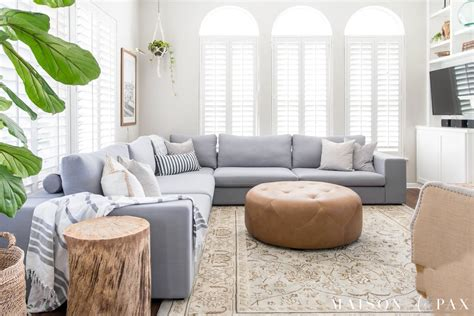 Ideas For Living Rooms With Sectionals by Designing A Small Living Room With A Large Sectional