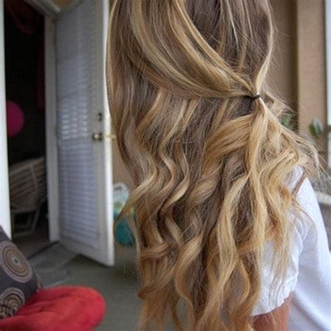 casual curls ideas  pinterest easy hairstlyes