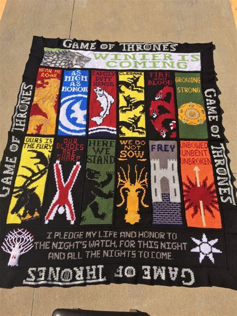 game  thrones crochet blanket afghan graphghan