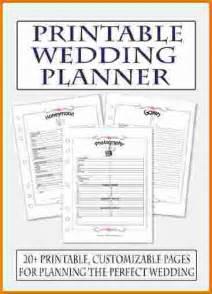 Free Printable Wedding Planner Checklist