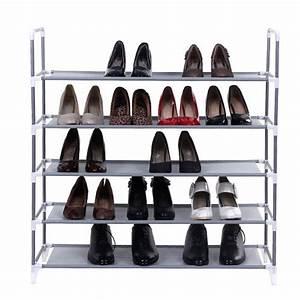 Schuhschrank Für 100 Paar Schuhe : schuhregale aus metall stapelbar f r flur und keller ~ Orissabook.com Haus und Dekorationen