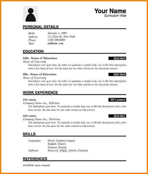 9 professional cv format pdf quote templates