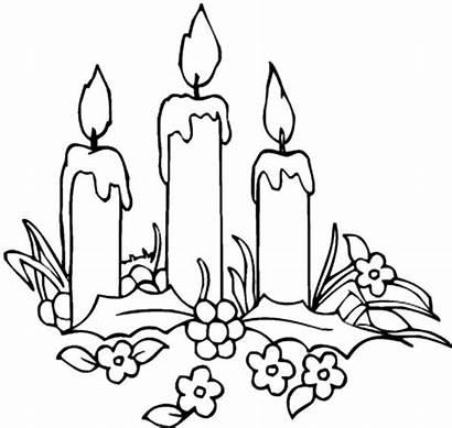 Coloring Candle Advent Frisch Cake Birthday Ausmalbilder