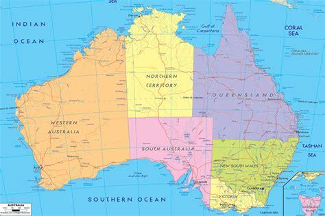 Carte Australie Ville by Carte Du Monde Pays