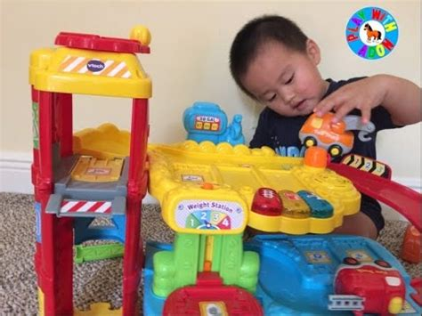 Vtech Park And Learn Deluxe Garage Play And Review Youtube