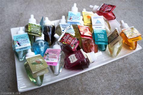 bath works body wallflower scents refill wallflowers scent descriptions strongest christmas
